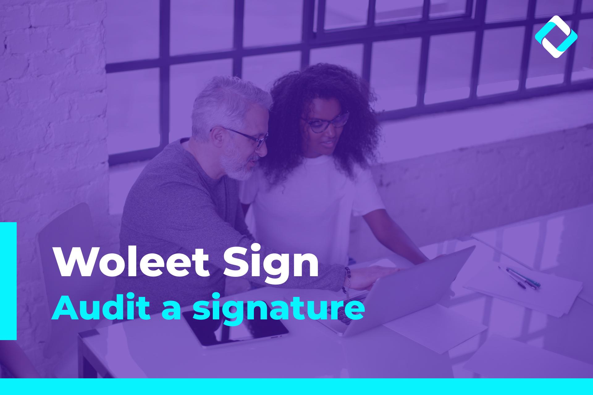 Audit a signature
